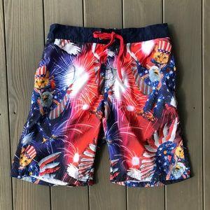 Other - USA Eagle Fireworks Patriotic Swim Board Trunks